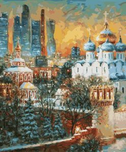 Harsh Winter in Moscow paint by numbers