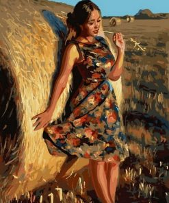 Harvest Girl paint by numbers