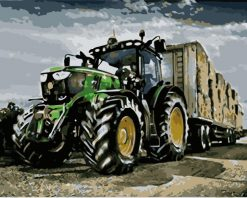 Harvest Tractor paint by numbers
