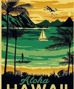 Hawaii Paradise paint by numbers