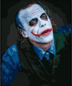 Heath Ledger Joker paint by numbers