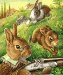 Hunter Rabbits paint by numbers