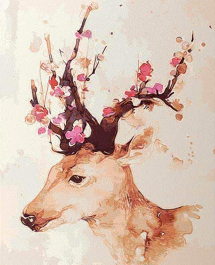 Inspiration Deer paint by numbers