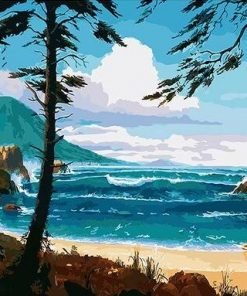 Island Seaside Beach paint by numbers