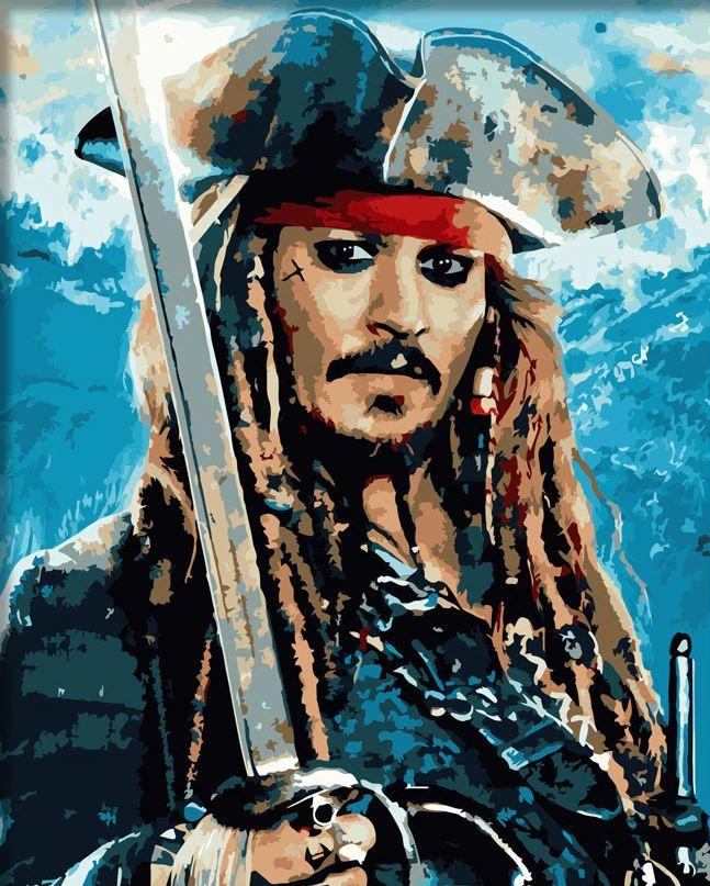 Jack Sparrow paint by numbers