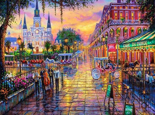 Jackson Square New Orleans paint by numbers