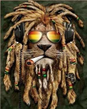 Jamaican Lion paint by numbers