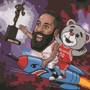 James Harden Animated paint by numbers