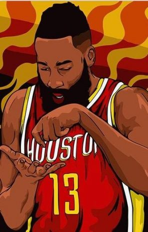 James Harden paint by numbers