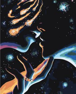 Kiss in the Universe paint by numbers