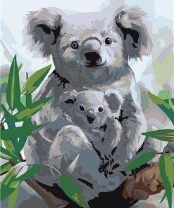 Koala With Her Baby paint by numbers