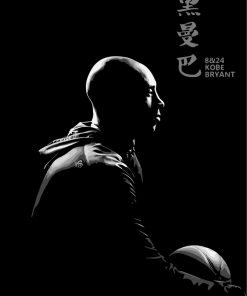 Kobe Bryant Black And White paint by numbers