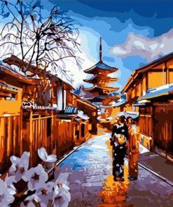 Kyoto Night paint by numbers