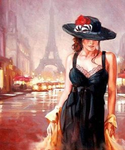 Lady In Paris paint by numbers