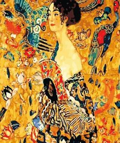 Lady with Fan Gustav Klimt paint by numbers