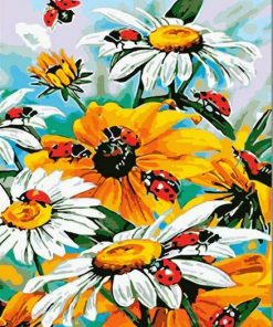 Ladybird On Flowers paint by numbers