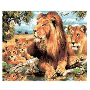 Lion Family paint by numbers