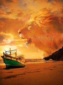 Lion in Beach Sky paint by numbers