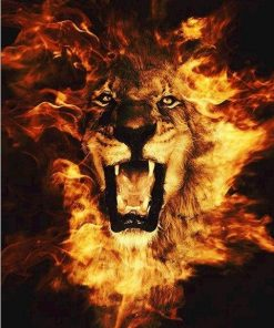 Lion of Fire paint by numbers