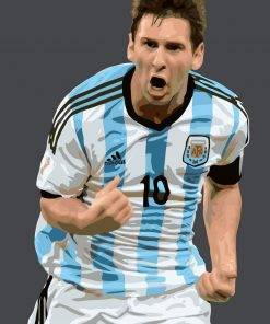 Lionel Messi Celebrity paint by numbers