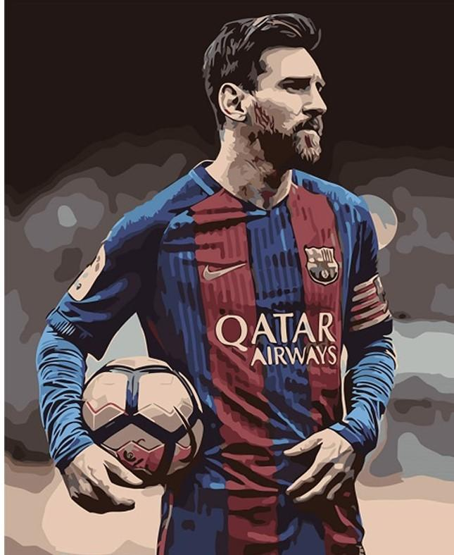 Lionel Messi paint by numbers