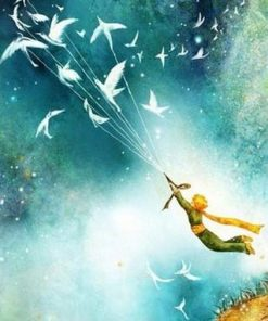Little Prince Flying With Birds paint by numbers