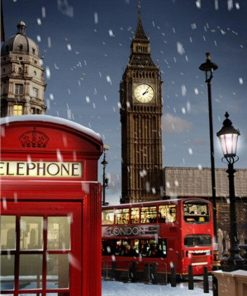 London Winter paint by numbers