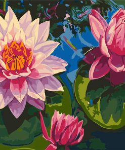 Lotus Flower On Water paint by numbers