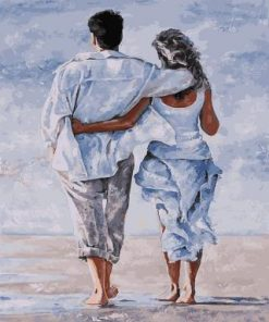 Lovers on a Beach Holiday paint by numbers