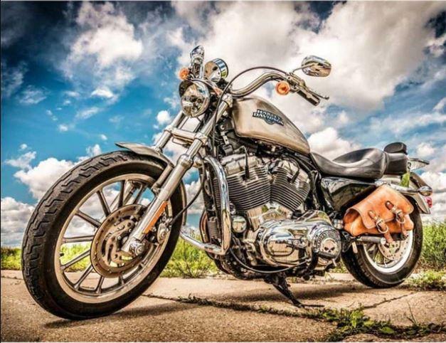 Macro Run Motorcycle paint by numbers
