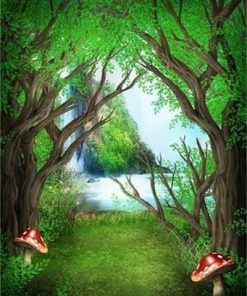 Magic Forest Tree paint by numbers