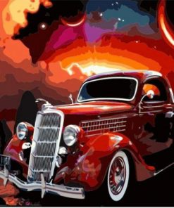 Magical Antique Car paint by numbers
