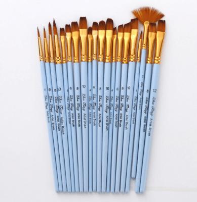 Matt blue Nylon Paint Brush