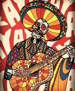 Mexican Skull paint by numbers