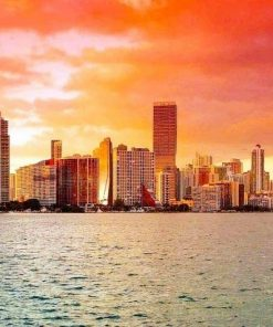 Miami Florida Sunset paint by numbers