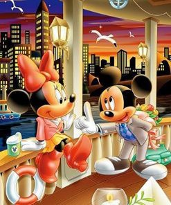 Mickey and Minnie Date paint by numbers