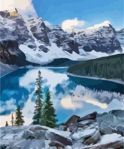 Moraine Lake Canada paint by numbers