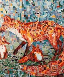 Mosaic Fox paint by numbers