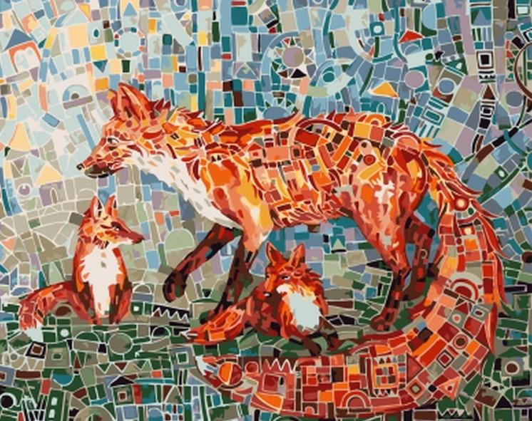 Mosaic Fox - Animals Paint By Number - Numeral Paint