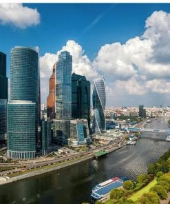 Moscow Modern City paint by numbers