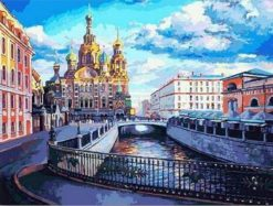Moscow Russia paint by numbers
