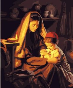 Mother And Child Prayer paint by numbers