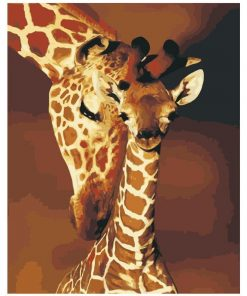 Mother Giraffe paint by numbers