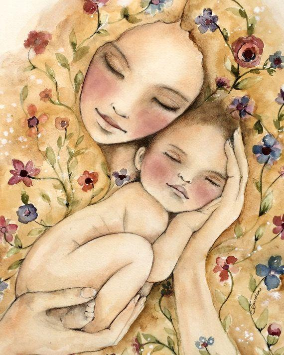 Mother and Baby paint by numbers