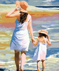 Mother and Daughter paint by numbers