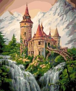 Mount Waterfall Castle paint by numbers