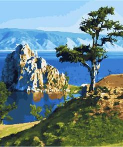 Mountain By The Sea paint by numbers