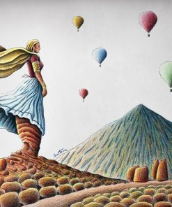 Mountain Lady paint by numbers