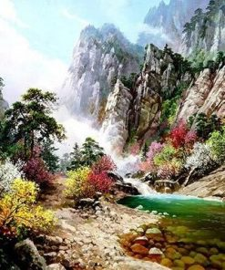 Mountain Peaks River paint by numbers