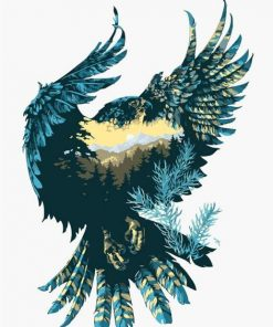 Mountain eagle paint by numbers